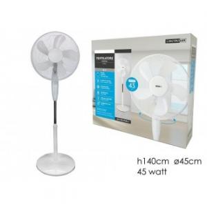 Ventilatore Alto 140 cm Con Base Tonda 43 Watt Colore Bianco Per Interno Elettrodomestici Casa