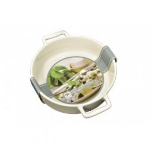 Pirofila Grande con Manico Funzionale Color Panna 28x22x6 cm Per Cibo Ideale per la Cucina Casa