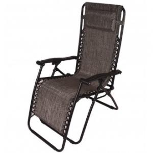 Sedia A Sdraio Relax Colore Grigio Scuro Struttura in Metallo Nero Casa Giardino Con Poggia Testa Comoda Confortevole Casa