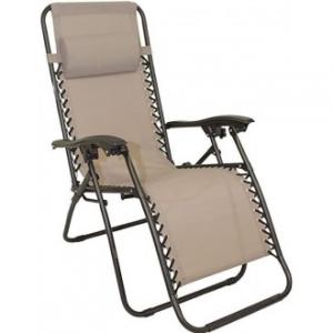 Sedia A Sdraio Relax Colore Tortora Struttura in Metallo Nero Casa Giardino Con Poggia Testa Comoda Confortevole Casa
