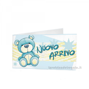 20 pz - Bigliettino bomboniere Battesimo Bimbo 4.5x2.5 cm - Cod. 3842