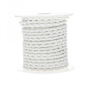 Cordoncino treccia mm 4 x 10 mt bianco
