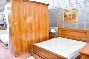 Room Double In Real Wood With Bed And Drawers + Net,drawer,bedstands