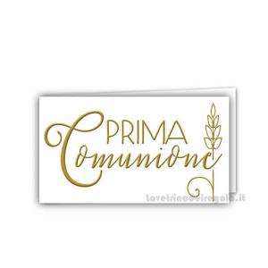 20 pz - Bigliettino bomboniere Prima Comunione bimbi 4.5x2.5 cm - Cod. 3855