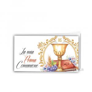 20 pz - Bigliettino bomboniere Prima Comunione bimbi 4.5x2.5 cm - Cod. 3857