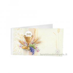 20 pz - Bigliettino bomboniere Prima Comunione bimbi 4.5x2.5 cm - Cod. 3860