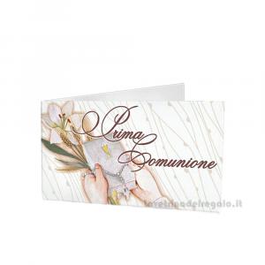 20 pz - Bigliettino bomboniere Prima Comunione bimbi 4.5x2.5 cm - Cod. 3865