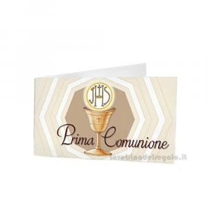20 pz - Bigliettino bomboniere Prima Comunione bimbi 4.5x2.5 cm - Cod. 3867