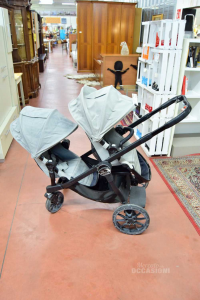 Stroller Twin Baby Jogger Gray