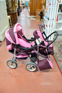 Stroller And Ovetto Pink / Purple + Bag Accessories Brand Kamil Karex