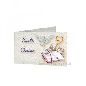 20 pz - Bigliettino bomboniere Santa Cresima ragazzi 4.5x2.5 cm - Cod. 3875