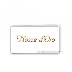 20 pz - Bigliettino bomboniere Nozze d'Oro 4.5x2.5 cm - Cod. 3886