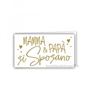 20 pz - Bigliettino bomboniere Matrimonio 4.5x2.5 cm - Cod. 3892