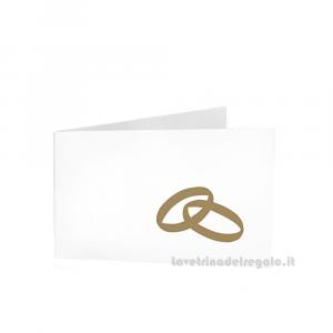 20 pz - Bigliettino bomboniere Matrimonio 4.5x2.5 cm - Cod. 3897
