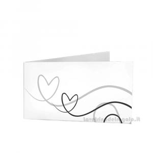 20 pz - Bigliettino bomboniere Matrimonio 4.5x2.5 cm - Cod. 3898