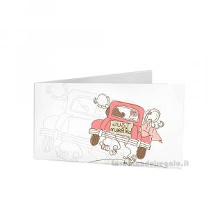 20 pz - Bigliettino bomboniere Matrimonio 4.5x2.5 cm - Cod. 3899
