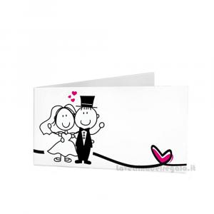 20 pz - Bigliettino bomboniere Matrimonio 4.5x2.5 cm - Cod. 3900