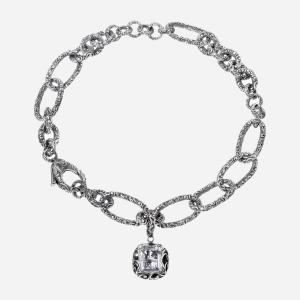 Collana Maria e Luisa girocollo in argento brunito
