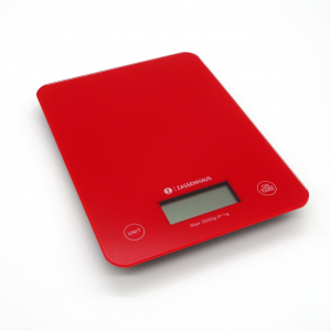 Bilancia cucina vetro rosso 5kg ampio display