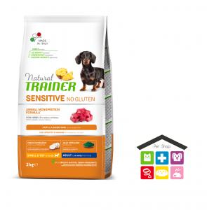 Natural trainer Sensitive No Gluten Mini Adult con Agnello 0,800g
