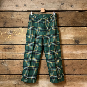 Pantalone Department 5 Due in Check Verde Bosco a Palazzo