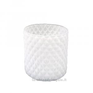 Vaso Yemen Bianco in vetro 10 cm - Oggestica da arredo