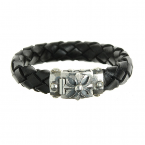Elf Craft Silver Leather Bracelet