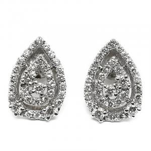 Orecchini Goccia in Oro Bianco e Diamanti