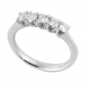 Anello Riviera Grace 5 Diamanti