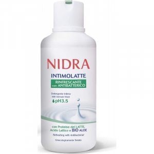 NIDRA Detergente intimo latte Rinfrescante con antibatterico ph 3.5 500ml