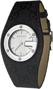 OROLOGIO GUCCI BANDEAU BLACK CANVAS