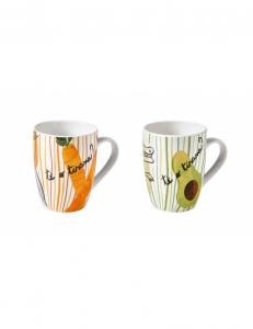 Brandani 2 tazze mug allegra comrbiccola