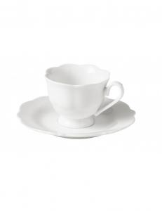 Brandani 2 tazze caffe bianche porcellana meringa