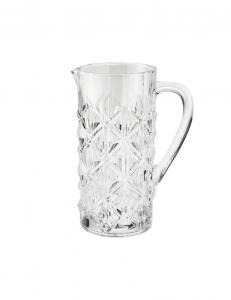 Brandani caraffa cristallino cilindrica sfaccettata