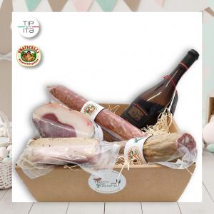 Speciale confezione Salumi Naturali con omaggio Vino Bianco Verdicchio Riserva Nera DOC