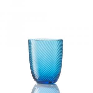 Bicchiere Idra Rigato Ritorto Turchese