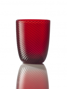 Bicchiere Idra Rigato Ritorto Rosso