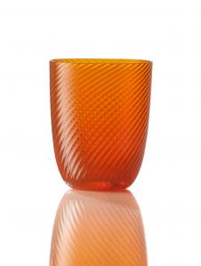 Bicchiere Idra Rigato Ritorto Arancio