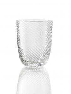 Bicchiere Idra Rigato Ritorto Trasparente