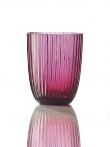 Bicchiere Idra Rigato Rubino