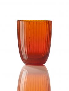 Bicchiere Idra Rigato Arancio