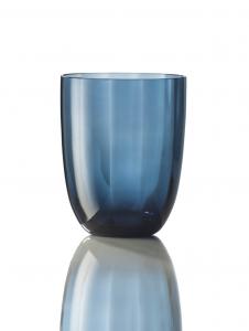 Bicchiere Idra Ottico Blu Avio