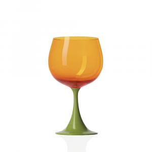 Calice Borgogna Burlesque Pisello-Arancio