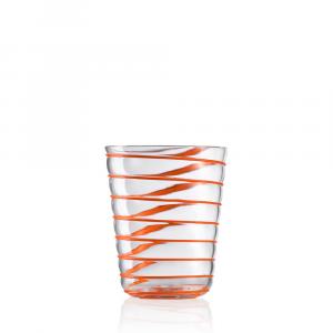 Bicchiere Acqua Twist Arancio