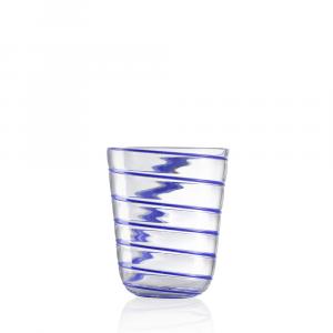 Bicchiere Acqua Twist Blu