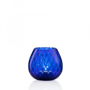 Portacandela Macramè Piccola Blu