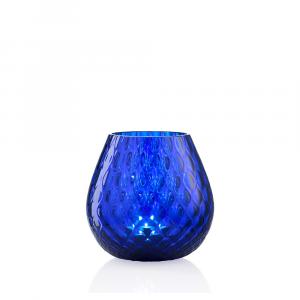 Portacandela Macramè Medio Blu