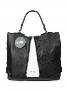 M-BRC Borsa a Mano Bicolore Nera e Bianca