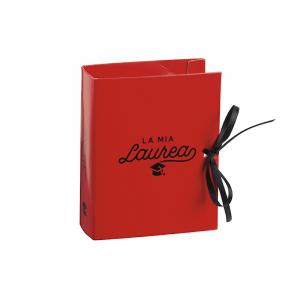 Astuccio porta confetti Laurea rosso e nero