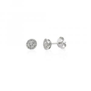 Orecchini Punto Luce Oro Diamanti ct. 0,30